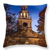 Night Church Throw Pillow