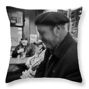 Night Life At The Bar Throw Pillow