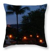Night Lights On The Mountain Throw Pillow