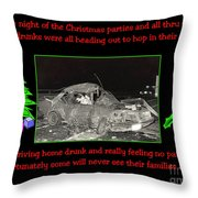 Night Of Christmas Throw Pillow