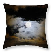 Night Of The Full Moon Throw Pillow