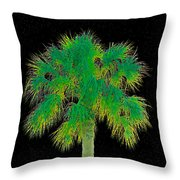 Night Of The Green Palm Throw Pillow