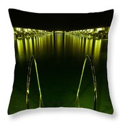Night. One Day In Paradise. Maldives Throw Pillow