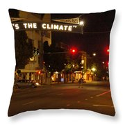 Night Scene At 6th And G Throw Pillow