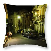 Night Scene In Sicily Throw Pillow