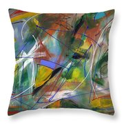 Night Songs Throw Pillow