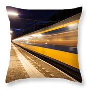 Night Speed Throw Pillow