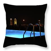 Night Swim Anyone Throw Pillow