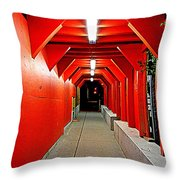 Night Tunnel Throw Pillow