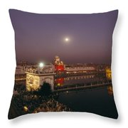 Night View Of Amritsar Throw Pillow