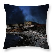 Nightfall Over Hard Time - San Quentin California State Prison - 5d18454 Throw Pillow