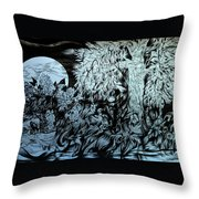 Nightingale Night Throw Pillow