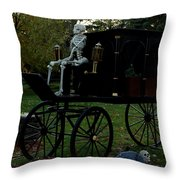Nightly Death Ride Throw Pillow