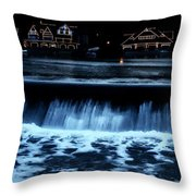 Nighttime At Boathouse Row Throw Pillow
