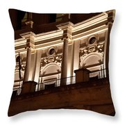 Nighttime Palace Throw Pillow