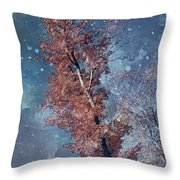 Nighty Tree Throw Pillow