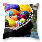 Niijima Floats Throw Pillow by Elizabeth Hart
