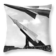 Nike Missile, C1959 Throw Pillow by Granger