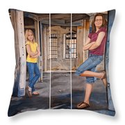 Nina And Francis 2 Throw Pillow
