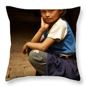 Nine Years Old Throw Pillow
