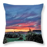 Nisqually Valley Sunrise Throw Pillow
