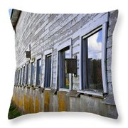 Nisqually Wildlife Refuge P18 The Barn Throw Pillow