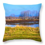Nisqually Wildlife Refuge P5 Throw Pillow