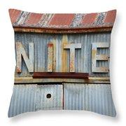 Nite Rusty Metal Sign Throw Pillow