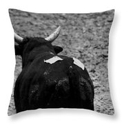 No Bull Throw Pillow