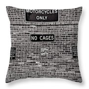 No Cages Throw Pillow