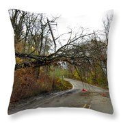 No Electricity Throw Pillow