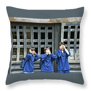 No Evil Throw Pillow
