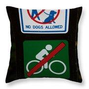 No Fun Allowed Throw Pillow