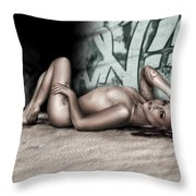 No Leaf Clover Throw Pillow