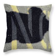 NO Throw Pillow by Luke Moore