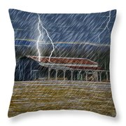 No Matter The Weather-work Goes On Throw Pillow