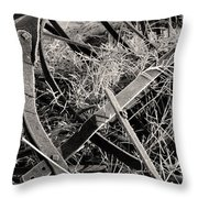 No More Plowing Throw Pillow