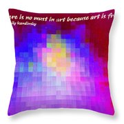 No Must In Art Throw Pillow