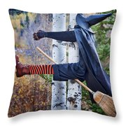 No Texting While Flying Throw Pillow