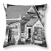 No Trespassing Throw Pillow