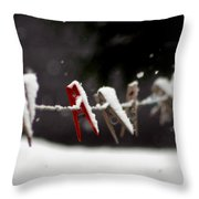 No Wash Today Throw Pillow