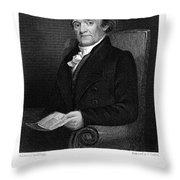 Noah Webster (1758-1843) Throw Pillow