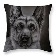 Noble - German Shepherd Dog  Throw Pillow
