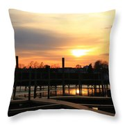Nobody There Throw Pillow
