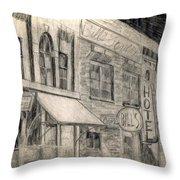 Noir Street Throw Pillow