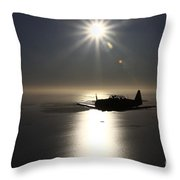 North American T-6 Texan Trainer Throw Pillow