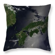 North And South Korea, And The Japanese Throw Pillow