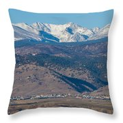 North Boulder Colorado Front Range View Throw Pillow