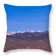 North Boulder County Colorado Full Moon View Throw Pillow