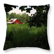North Carolina Farm Throw Pillow